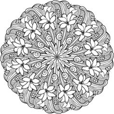 169 Best Printable Mandalas to Color - Free images in 2019 | Mandala ...