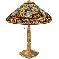"""Tiffany Studios """"Russian"""" Table Lamp 