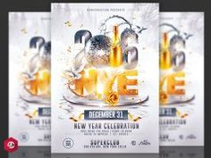 New Year 2016 | Nye Flyer Template by RomeCreation