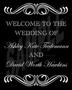 Wedding Welcome Sign by WeddingsByJamie on Etsy