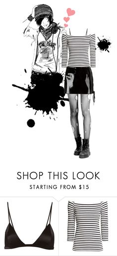 """emo"" by oriza-int ❤ liked on Polyvore featuring Fleur du Mal, H&M and Anthony Vaccarello"