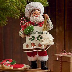 Possible Dreams Cookie Taster Santa Figurine by Lenox