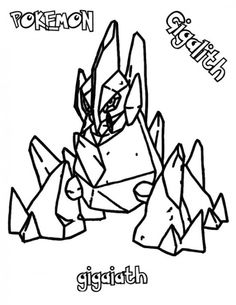 Pokemon Gigalith Coloring Pages