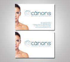 Diseño gráfico de la identidad corporativa para la clínica médico estética Cànons