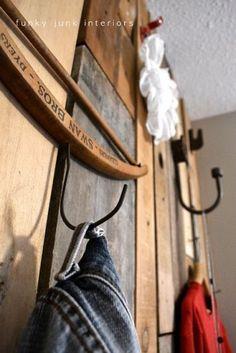 Love old wooden hangers....