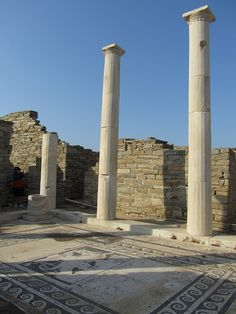 Ruins of an Ancient Home on Delos Islands (Greece)