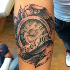 20 Best Traditional Clock Tattoo For Men Images Clock Tattoos