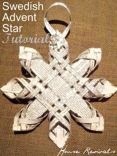 woven stars are an old traditional craft - would try using heavy double sided scrapbook paper.