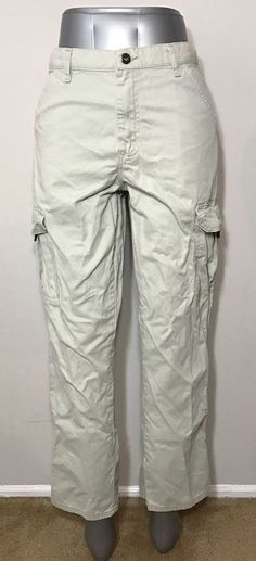 Wrangler Girls Size 16 Regular Pants Khaki Cargo Cotton Hiking Camping Uniform  | eBay
