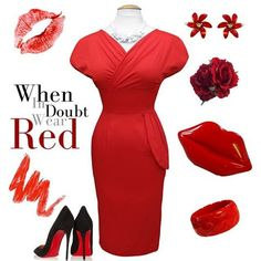 Valentine's day outfit inspiration. Knock em' dead in our Red Sateen Jezebel dress and don't forget those killer accessories.  #vivienofholloway #voh #vintage #vintagestyle #red #reddress #jezebel #redlips #redlipsclutch #lipsclutchbag #redrose #valentines #valentineinspiration #ootd #whenindoubtwearred #madeinlondon #1940s #1950s #pinup #pinupstyle #pinupgirl