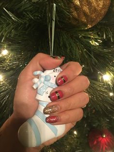 Jamberry. Mixed mani. Christmas. Santa suit. Fashionably late gel.