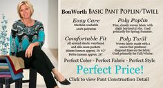 BonWorth pants come in every color and that makes Meemaw happy.