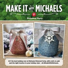 Easy DIY Glitter Candle Gift idea Michaels Pinterest Party