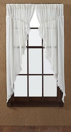 White Ruffled Sheer Tier Curtains | bestwindowtreatments.com ...