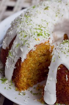 Lime, coconut, ginger and carrot cake Can be made gluten free by replacing flour with gluten free flour or combo of almond and coconut flour.