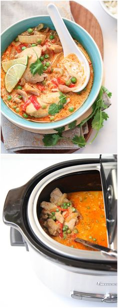 Slow Cooker Thai Chicken Soup