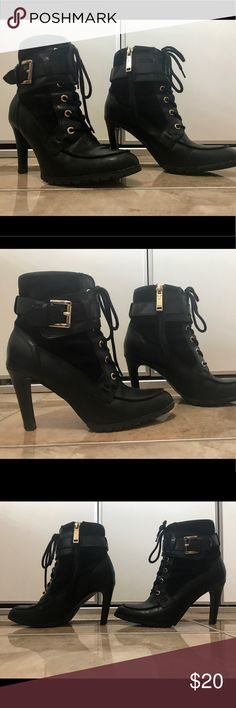 Tommy Hilfiger Heeled Boots -Tommy Hilfiger Heeled Boots  -Size: 5.5 -excellent condition/comfortable for walking  -see pictures for details - Tommy Hilfiger Shoes Ankle Boots & Booties