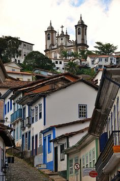 Ouro Preto, designated a World Heritage Site by Unesco because of its outstanding baroque architecture, Brazil (by AlexJ).