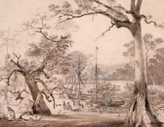 8/29/1835-Founding of Melbourne: landing from the Yarra Basin August 29th 1835