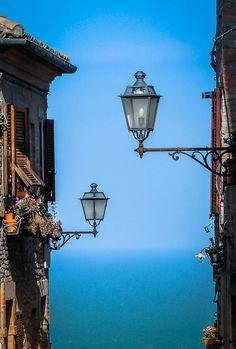 I tetti di Torre di Palme nelle #Marche #Italia