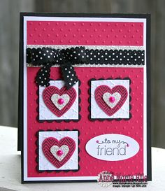 Stampin' Anne: Layered Hearts for Paper Players #137