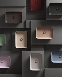 Ipalyss by Ideal Standard (vanaf Duravit, Cuba, Granite Bathroom, Bathroom Basin, Lavabo Design, Bath Showroom, Showroom Interior Design, Material Board, Tile Stores