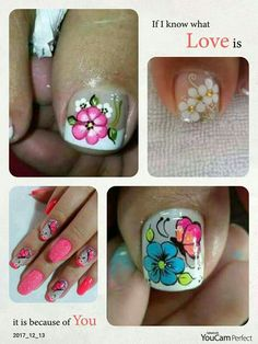 Pedicure Nail Art, Toe Nail Art, Toe Nails, Manicure, Butterfly Makeup, Sunflower Nails, Fingernail Designs, Nail Effects, Lily