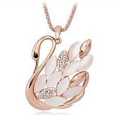 Women's Necklaces    - Pin it :-) Follow us .. CLICK IMAGE TWICE for our BEST PRICING ... SEE A LARGER SELECTION of women's necklaces  at  http://azgiftideas.com/product-category/womens-necklaces/?orderby=date&order=desc   - gift ideas ,    gift ideas for her  , womens, womens jewerly  -   Lovers2009 Korea Women Grade Swan Opal Long Necklace ,Crystal Sweater Necklace
