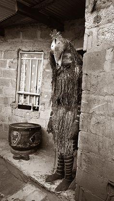 "Africa | Likolokolo at the door ~ ""Chokwe"", Zambia. | ©Francois d'El"