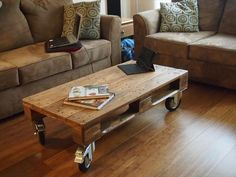 Living room #Table -8 DIY Recycled #Pallet Coffee Table Ideas | DIY Recycled