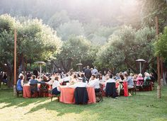 outdoor reception, Dawn Ranch, Guerneville, CA