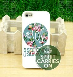 5SOS Vintage Logo - iPhone 4/4s/5/5S/5C Case - Samsung Galaxy S3/S4 Case - iPod 4/5 - Plastic/Rubber - Black or White by SPIRITCARRIESON on Etsy