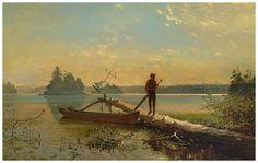 Homer, Winslow U.S. (1836 - 1910) An Adirondack Lake 1870 Oil on canvas Henry Art Gallery