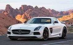 2014 Mercedes-Benz SLS AMG Black Series White Front Widescreen Wallpaper