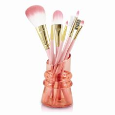 Royal Blossom Light Pink 7-pc. Makeup Brush Set – Goldia.com