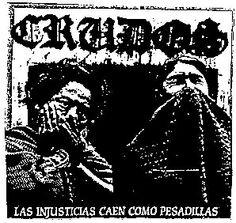 """Los Crudos Back Patch """"Las Injusticias caen como pesadillas"""""""