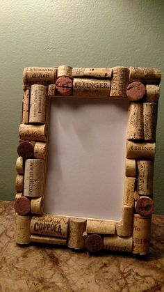 Frame fits approximately 4 x 6 photo, frame does not come with glass. Each frame. , Frame fits approximately 4 x 6 photo, frame does not come with glass. Each frame is unique, no two are the same. If you have a preference:. Wine Craft, Wine Cork Crafts, Wine Bottle Crafts, Crafts With Corks, Wine Cork Frame, Wine Cork Art, Wine Cork Projects, Craft Projects, Craft Ideas