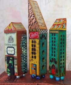 this artist does lots of cool stuff not just these buildings