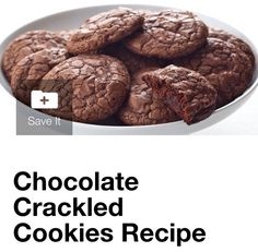 Chocolate Crackled Cookies #tipit #Food #Drink #Trusper #Tip