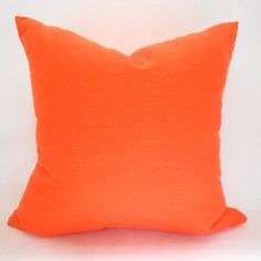 Pillow Covers  Orange Indoor Outdoor Any Size by MyPillowStudio, $15.00