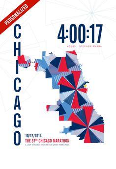 2014 Chicago Marathon Poster – JHill Design