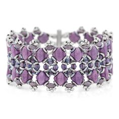 Lilac Shimmer Bracelet (directions have no diagrams) #Seed #Bead #Tutorials