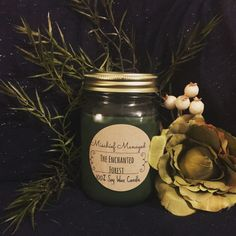 The Enchanted Forest soy candle by MMTrinkets on Etsy