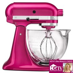 KitchenAid Architect Stand Mixer With Glass Bowl In Raspberry Ice. Kitchenaid Stand Mixer, Kitchenaid Artisan, White Vinyl, Mixers, Kitchen Aid Mixer, Spice Things Up, Kitchen Gadgets, Kitchen Appliances, Pasta Maker