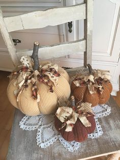 Sweater Pumpkins Set of 3 fabric pumpkins Fall decor shabby Pumpkin Crafts, Fall Crafts, Easter Crafts, Diy Crafts, Diy Pumpkin, Fabric Pumpkins, Fall Pumpkins, Sweater Pumpkins, Diy Thanksgiving Centerpieces