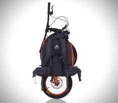Bicicleta de montaña plegable en una mochila | La Guarida Geek