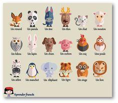 Des animaux en français