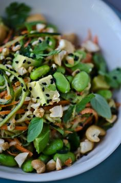 I'd like to make this without the peanut butter and substitute Tahini maybe.   #vegan Thai zucchini noodles   Scaling Back