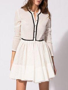 White Skater Dress//