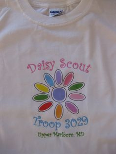 Personalized Girl Scout Short Sleeve T-Shirt - Daisy Scout - Brownie - Junior. $10.00, via Etsy.
